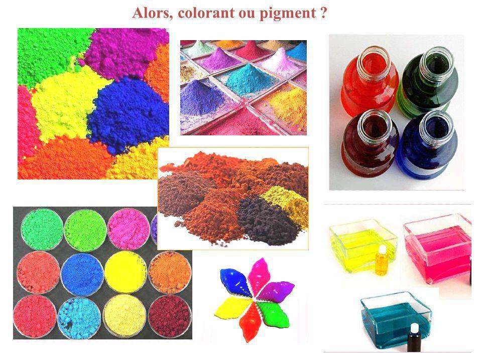 Alors, colorant ou pigment ?