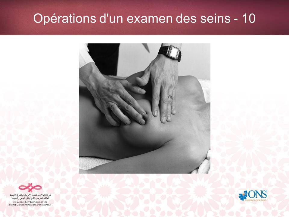Opérations d'un examen des seins - 10