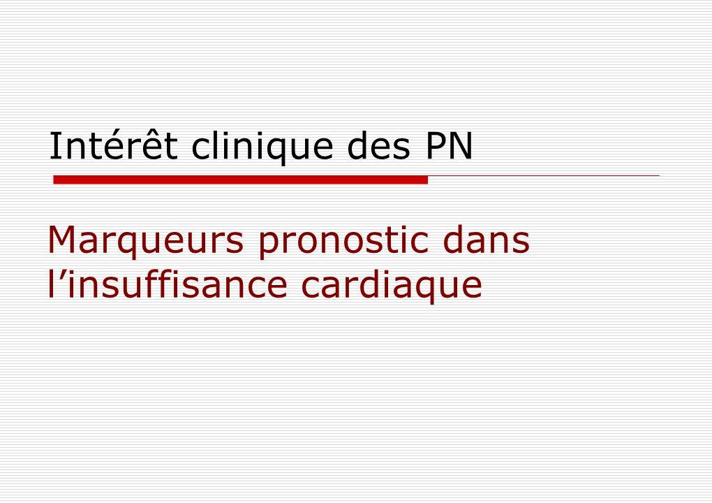 Intérêt clinique des PN Marqueurs pronostic dans linsuffisance cardiaque