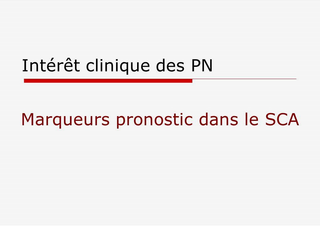 Intérêt clinique des PN Marqueurs pronostic dans le SCA