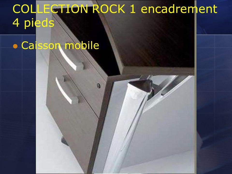 COLLECTION ROCK 1 encadrement 4 pieds Caisson mobile