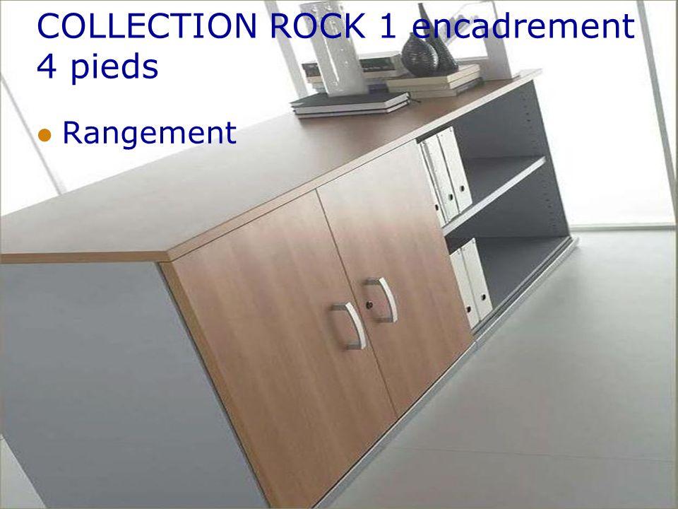 COLLECTION ROCK 1 encadrement 4 pieds Rangement