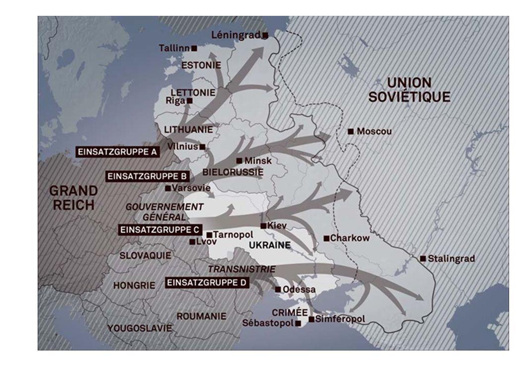 « La solution finale » En janvier 1942, lors de la conférence de Wannsee (près de Berlin), les chefs nazis décident de mettre en place la « solution finale ».