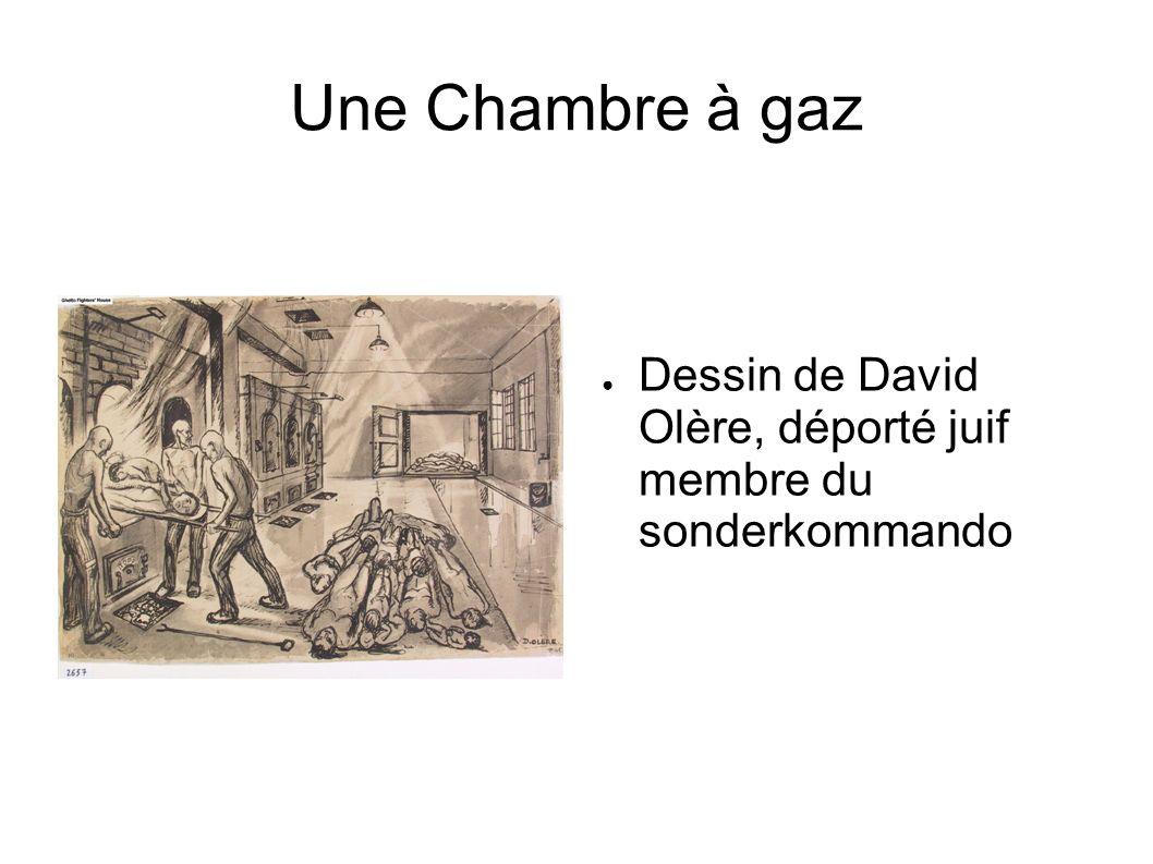 Une Chambre à gaz Dessin de David Olère, déporté juif membre du sonderkommando