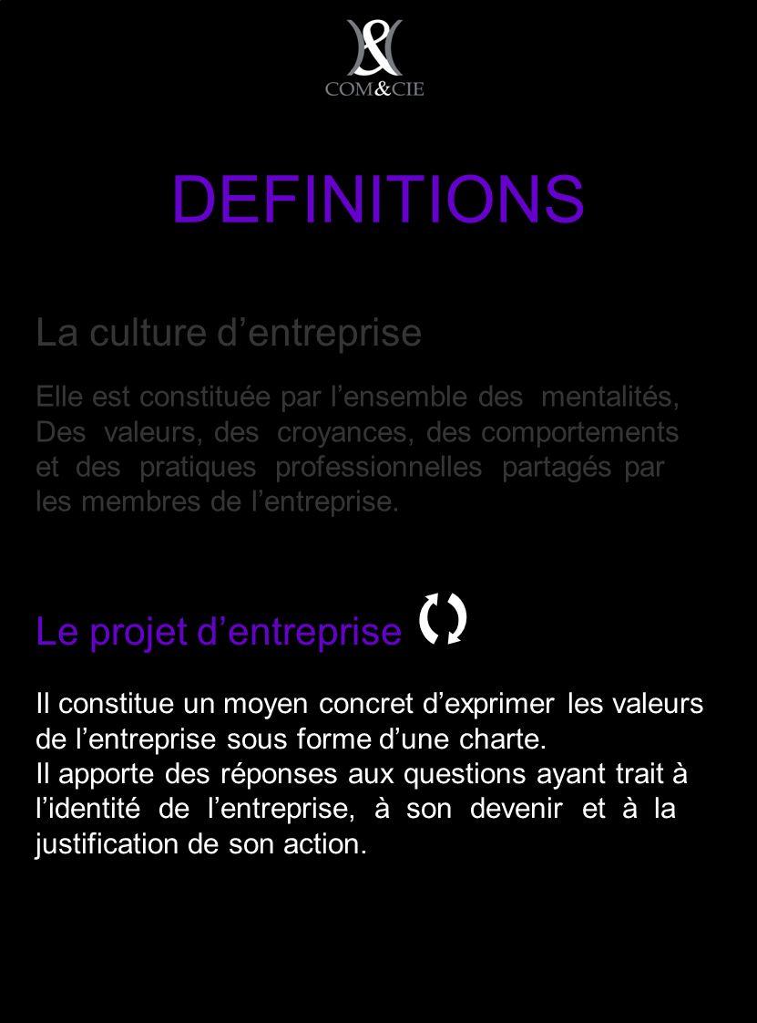 La culture dentreprise Elle est constituée par lensemble des mentalités, Des valeurs, des croyances, des comportements et des pratiques professionnelles partagés par les membres de lentreprise.