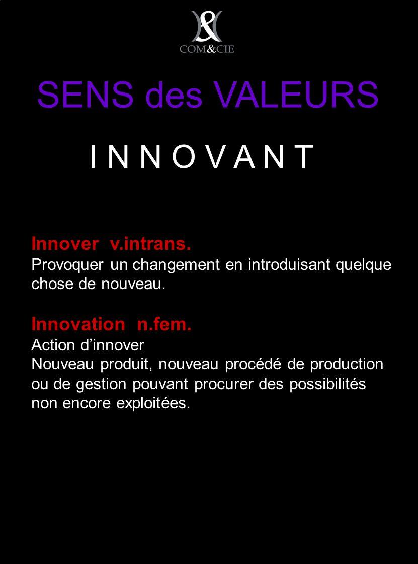 Innover v.intrans. Provoquer un changement en introduisant quelque chose de nouveau.