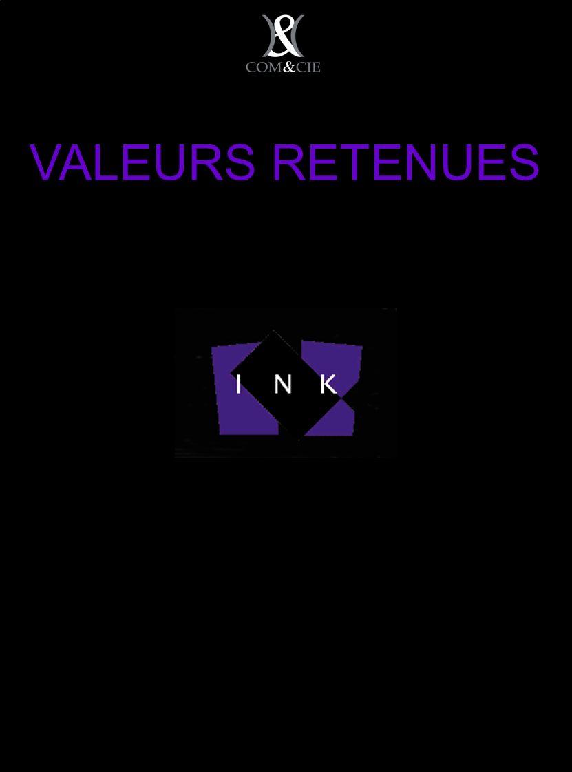VALEURS RETENUES