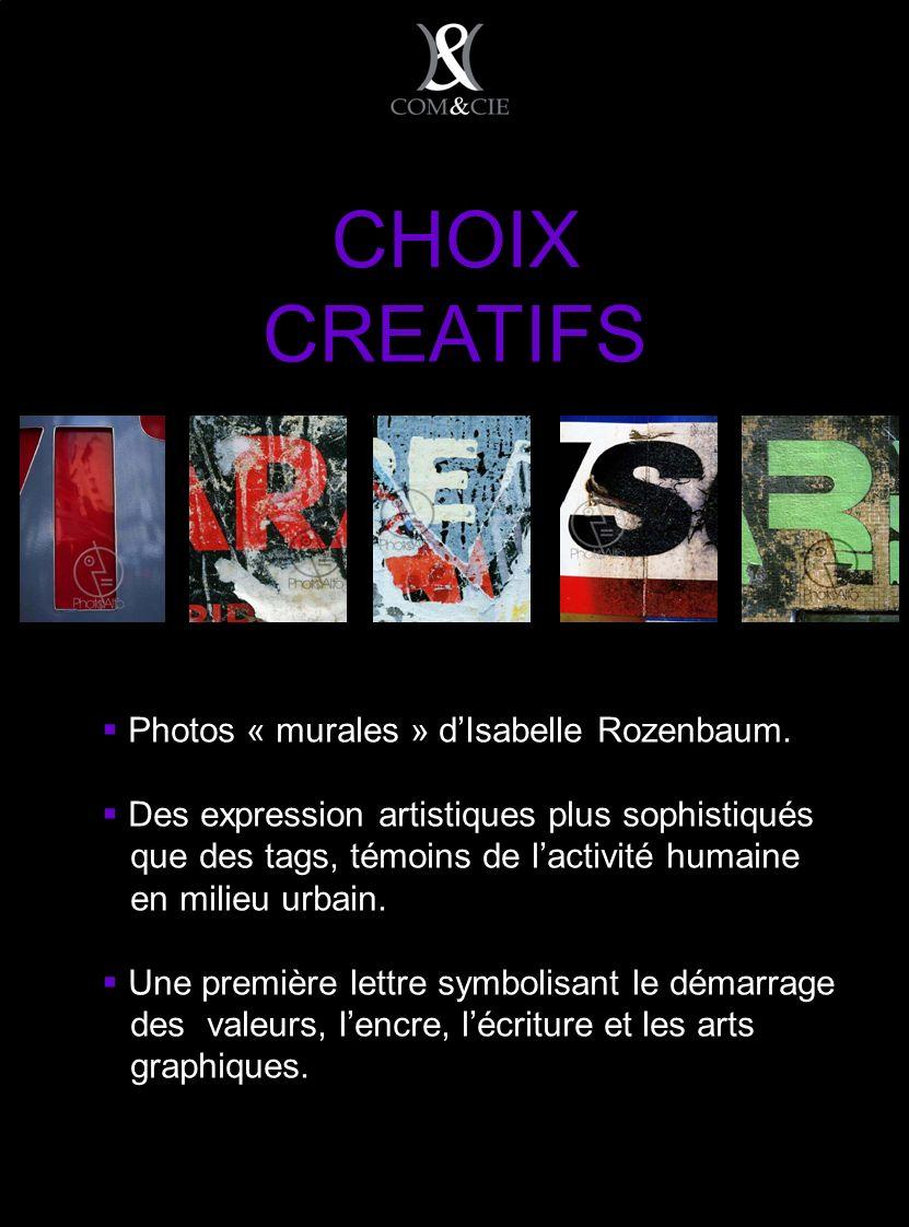 CHOIX CREATIFS Photos « murales » dIsabelle Rozenbaum.