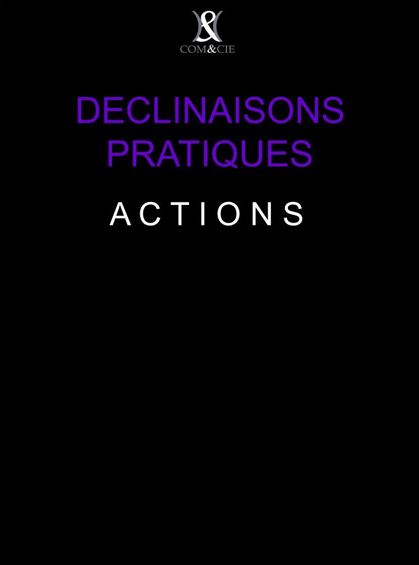 DECLINAISONS PRATIQUES A C T I O N S