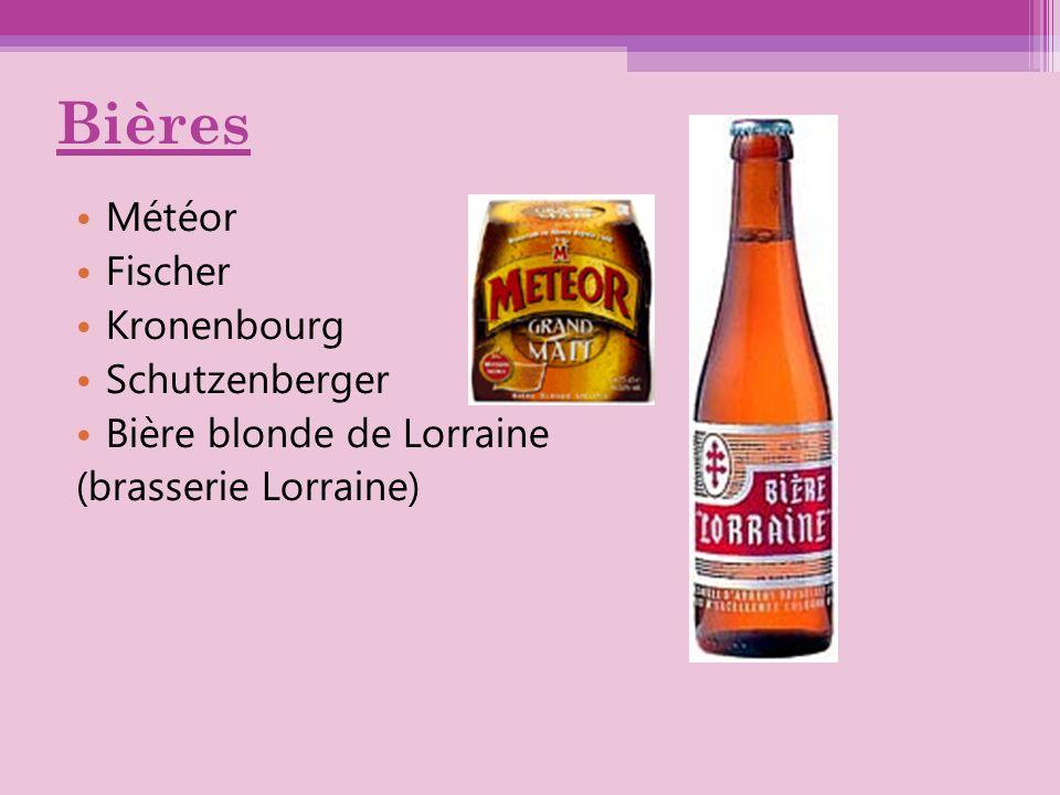 Bières Météor Fischer Kronenbourg Schutzenberger Bière blonde de Lorraine (brasserie Lorraine)