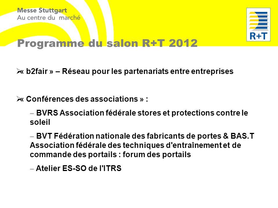 « b2fair » – Réseau pour les partenariats entre entreprises « Conférences des associations » : BVRS Association fédérale stores et protections contre