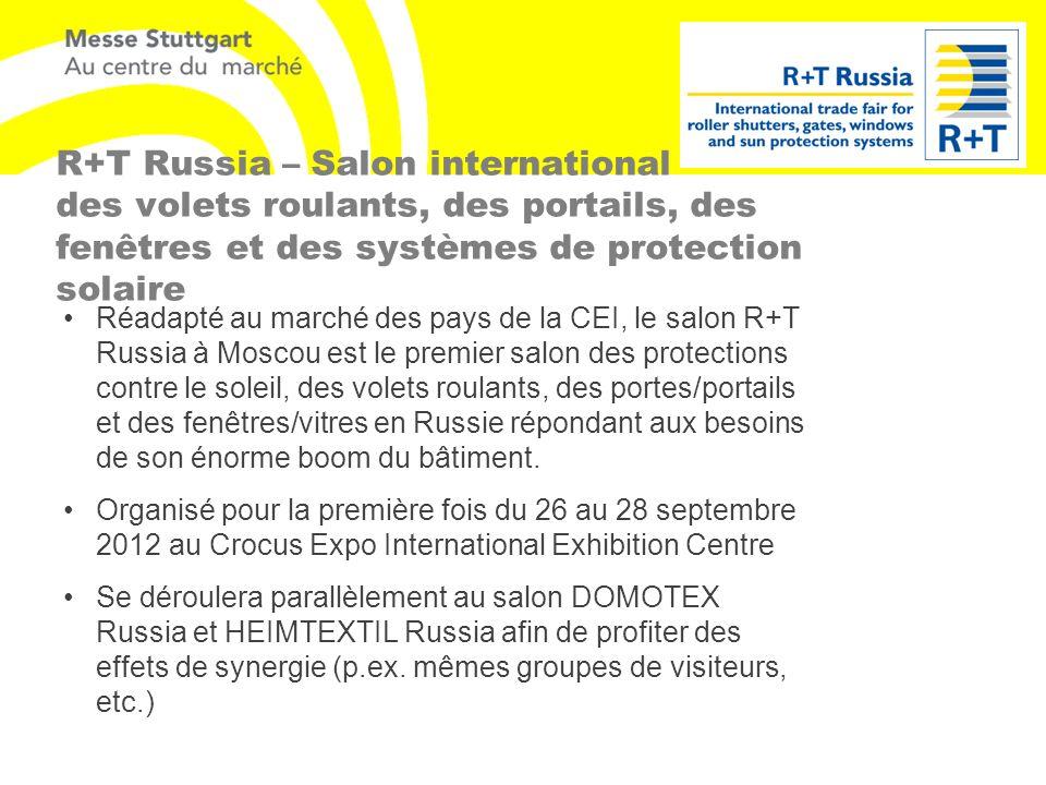 R+T Russia – Salon international des volets roulants, des portails, des fenêtres et des systèmes de protection solaire Réadapté au marché des pays de