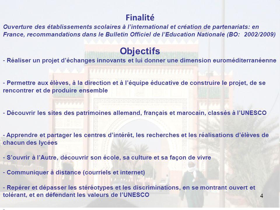 4 Finalité Ouverture des établissements scolaires à linternational et création de partenariats: en France, recommandations dans le Bulletin Officiel d