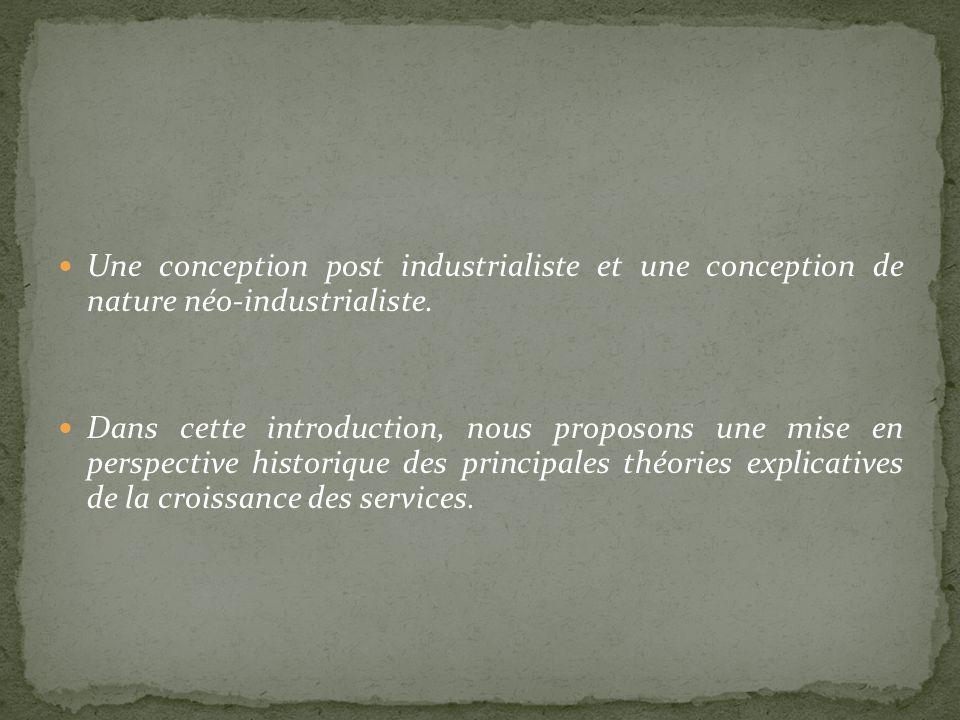 Une conception post industrialiste et une conception de nature néo-industrialiste. Dans cette introduction, nous proposons une mise en perspective his