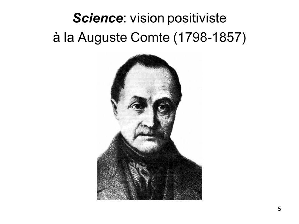 5 Science: vision positiviste à la Auguste Comte (1798-1857)