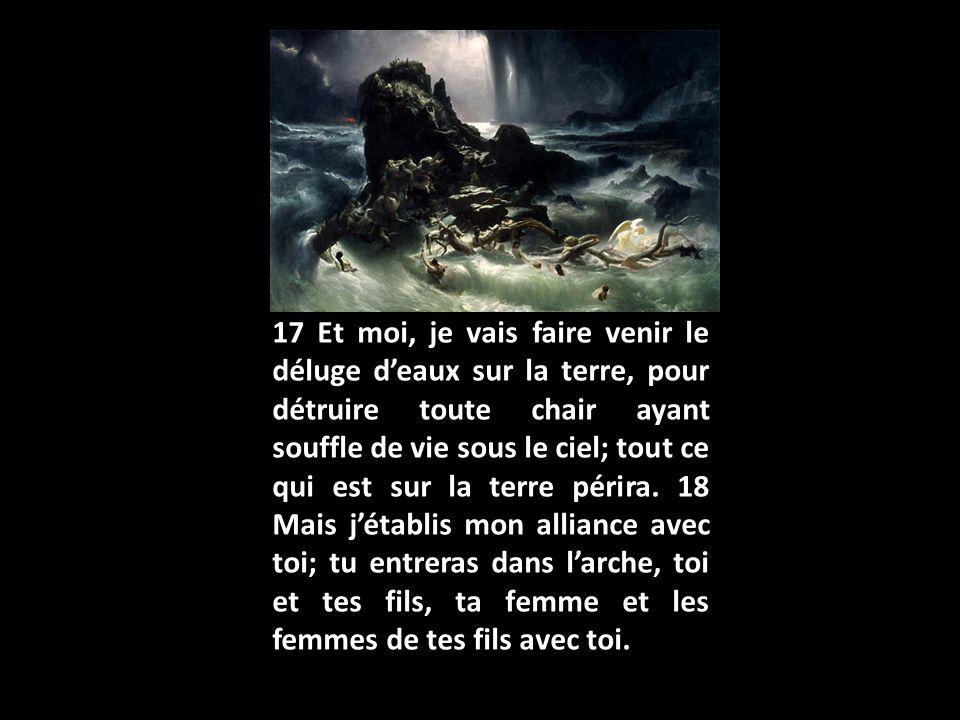 19 De tout ce qui vit, de toute chair, tu feras entrer dans larche deux de chaque espèce, pour les conserver en vie avec toi: il y aura un mâle et une femelle.