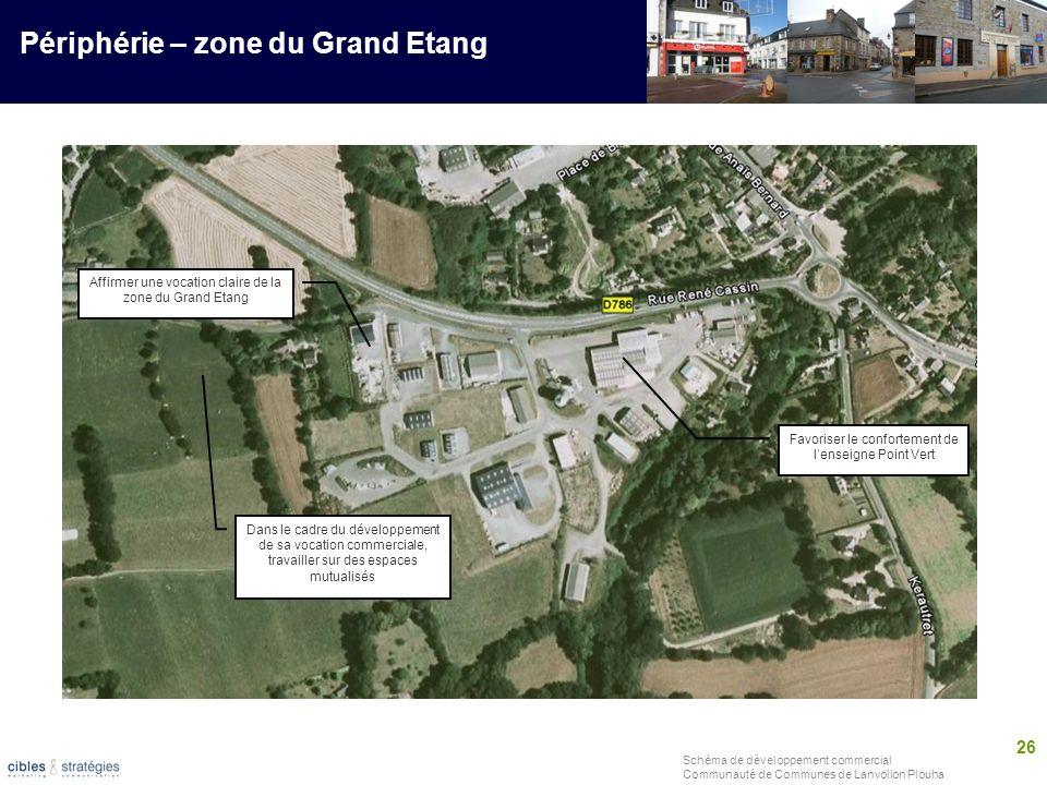 26 Schéma de développement commercial Communauté de Communes de Lanvollon Plouha Périphérie – zone du Grand Etang Favoriser le confortement de lenseig
