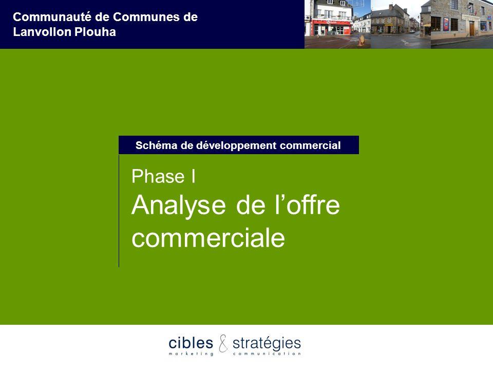 3 Schéma de développement commercial Communauté de Communes de Lanvollon Plouha Phase I Analyse de loffre commerciale Schéma de développement commerci