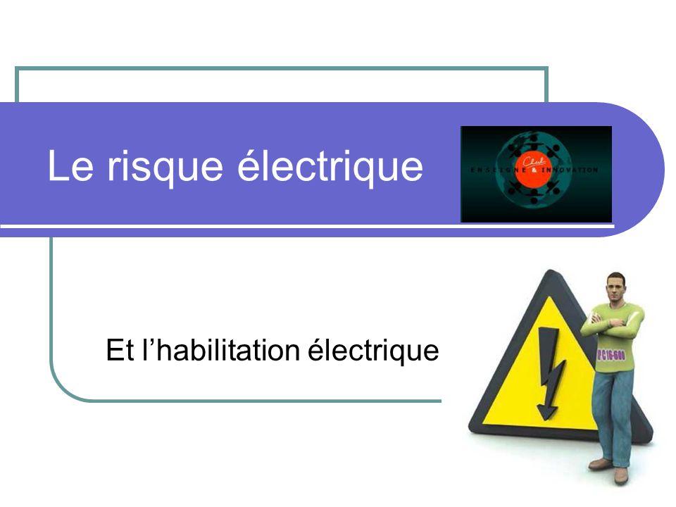 Le risque électrique Et lhabilitation électrique