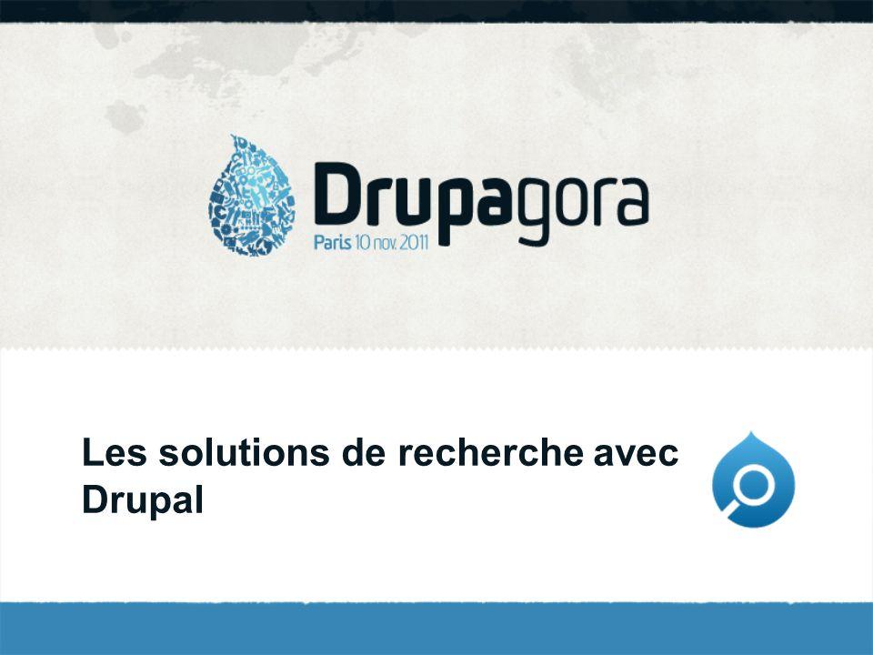 Les solutions de recherche avec Drupal