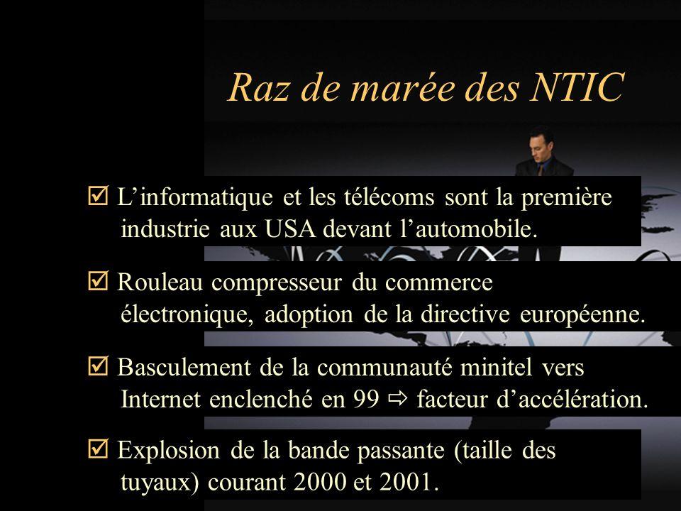Raz de marée des NTIC Linformatique et les télécoms sont la première industrie aux USA devant lautomobile.