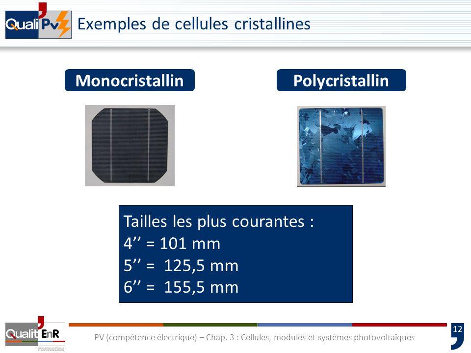 11 PV (compétence électrique) – Chap. 3 : Cellules, modules et systèmes photovoltaïques La cellule photovoltaïque Électrode négative Électrode positiv