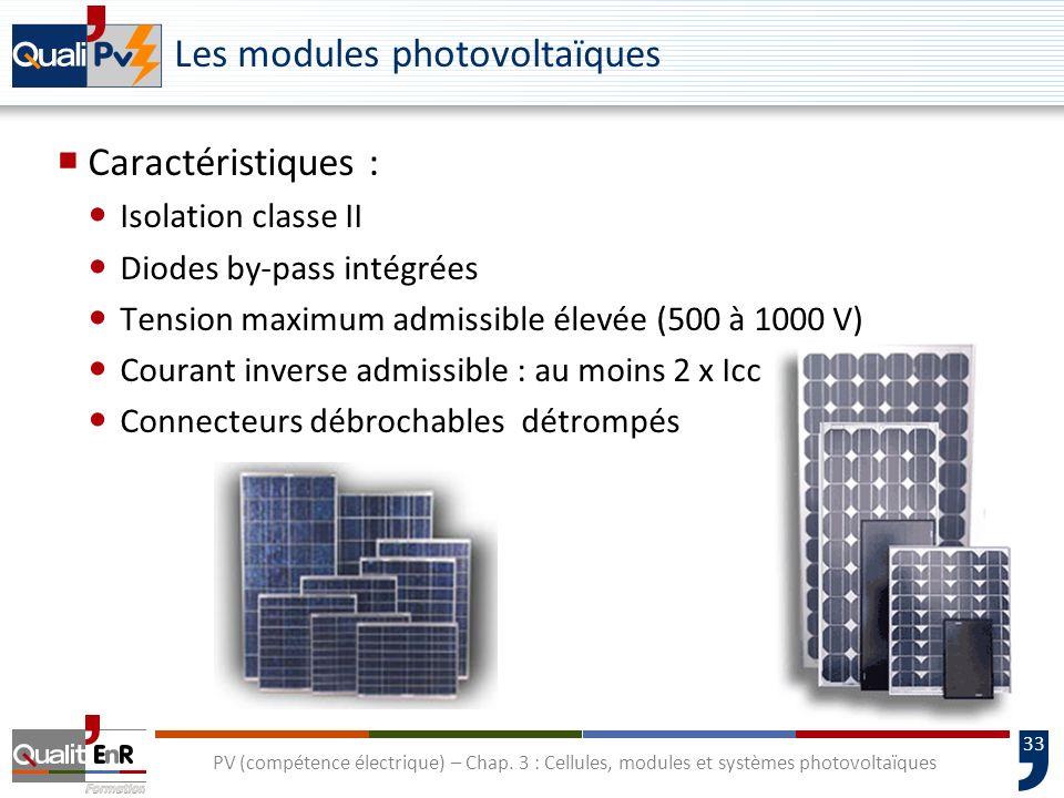 32 PV (compétence électrique) – Chap. 3 : Cellules, modules et systèmes photovoltaïques Température dun module au silicium cristallin en fonctionnemen