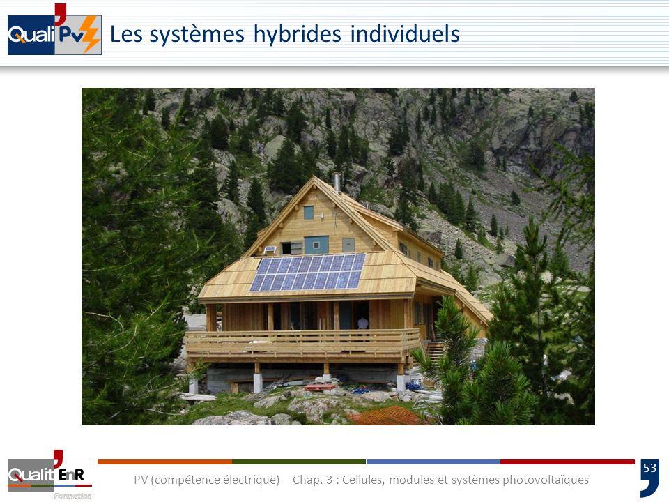 52 PV (compétence électrique) – Chap. 3 : Cellules, modules et systèmes photovoltaïques Les systèmes hybrides individuels
