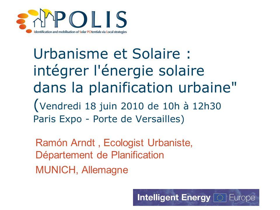 Urbanisme et Solaire : intégrer l'énergie solaire dans la planification urbaine
