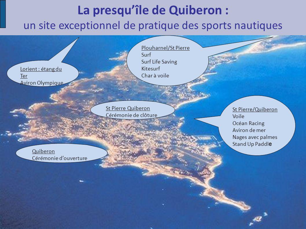 La presquîle de Quiberon : un site exceptionnel de pratique des sports nautiques St Pierre/Quiberon Voile Océan Racing Aviron de mer Nages avec palmes
