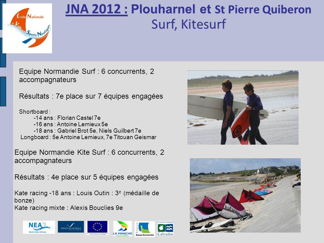 JNA 2012 : Plouharnel et St Pierre Quiberon Surf, Kitesurf JNA 2012 : Plouharnel et St Pierre Quiberon Surf, Kitesurf Equipe Normandie Surf : 6 concur