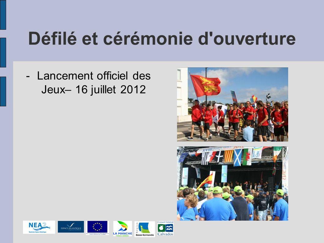 Défilé et cérémonie d'ouverture -Lancement officiel des Jeux– 16 juillet 2012