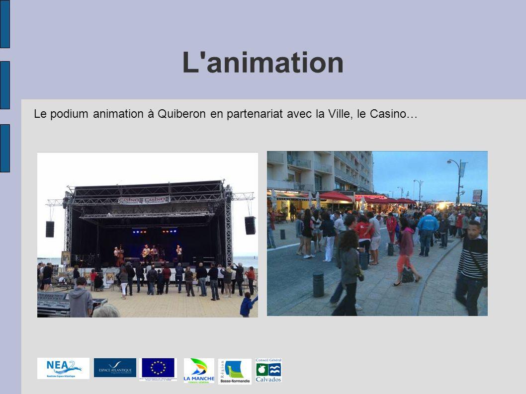 L'animation Le podium animation à Quiberon en partenariat avec la Ville, le Casino…