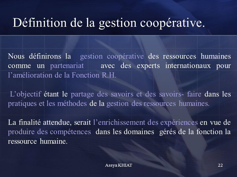 Définition de la gestion coopérative.