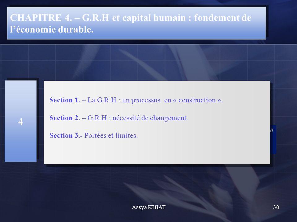 CHAPITRE 4.– G.R.H et capital humain : fondement de léconomie durable.
