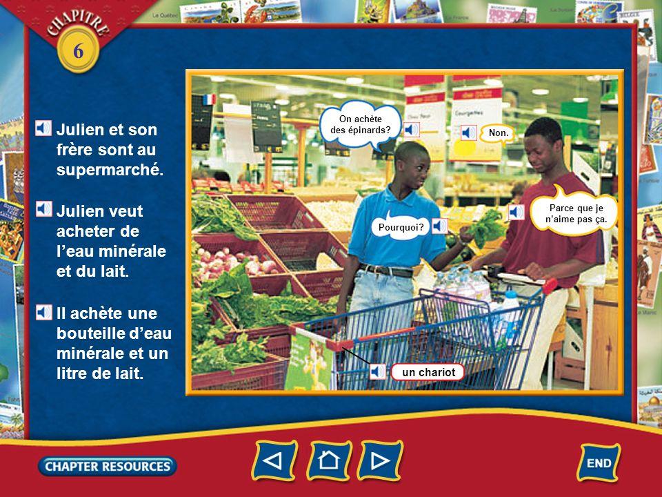 6 Ariane est au marché. Elle veut acheter des légumes. Elle va chez la marchande de fruits et légumes. un kilo = 1 000 (mille) grammes une livre = 500