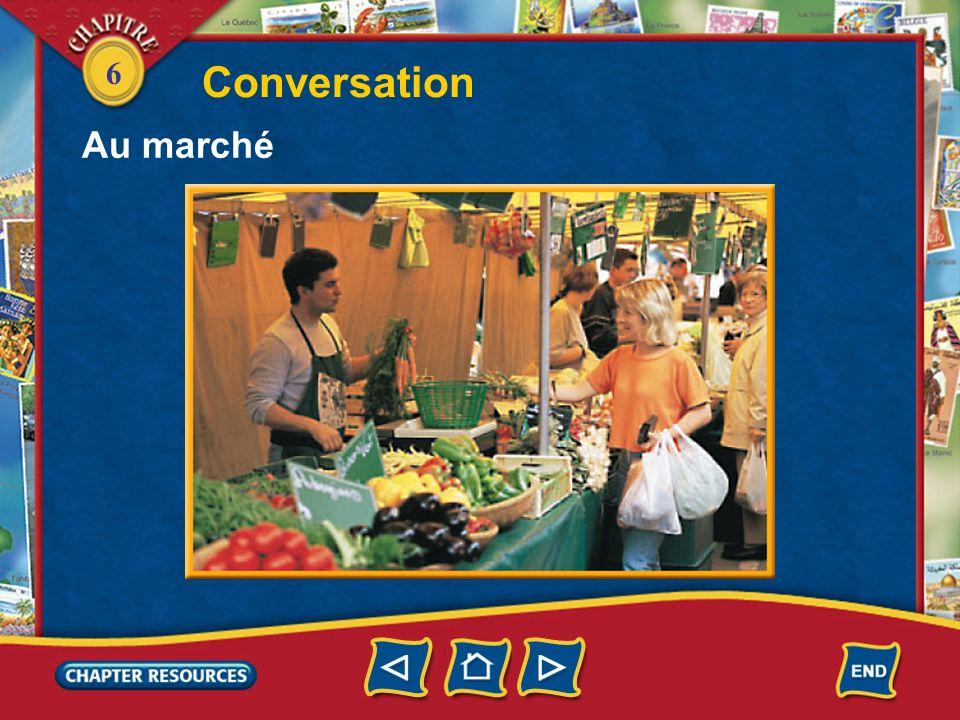 6 5. Il recommande quelle viande? Answer: Il recommande un délicieux petit agneau. 6. Ça coûte combien? Answer: Lagneau coûte neuf euros le kilo.