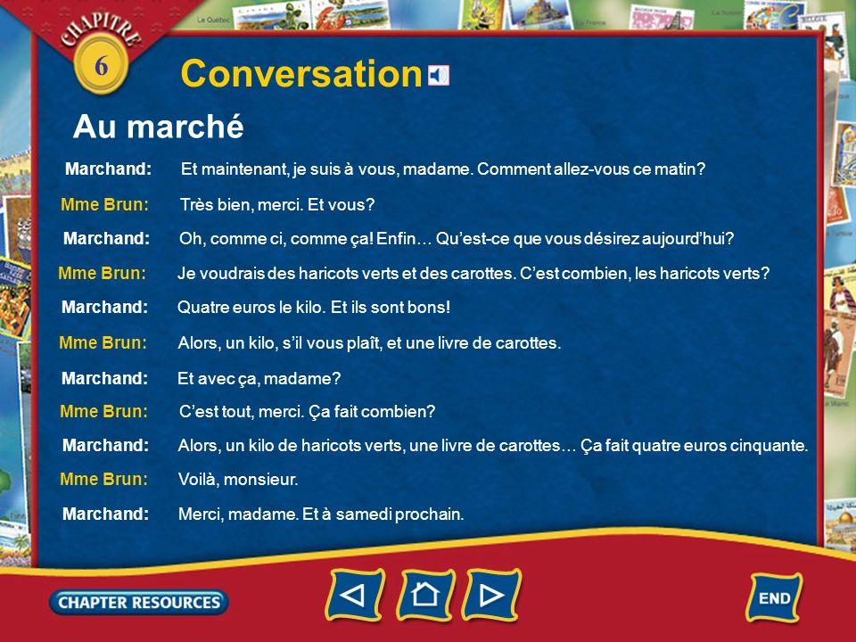 6 Conversation Au marché