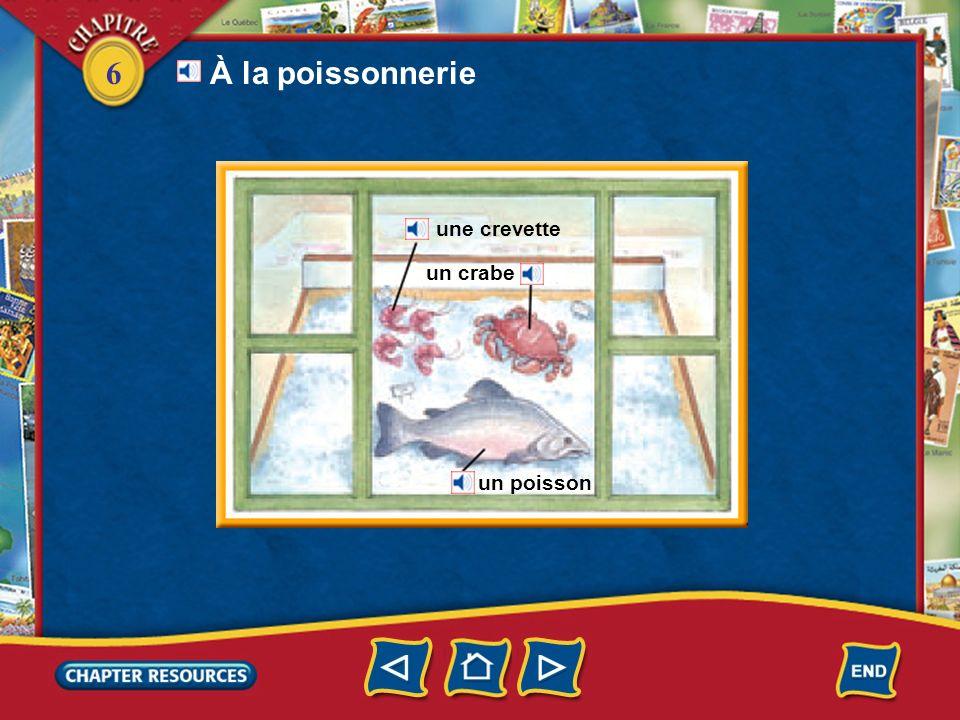 6 du porc un poulet du bœuf de lagneau de la viande À la boucherie