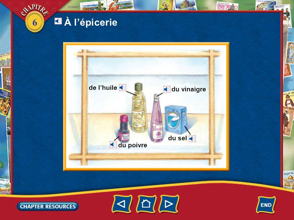 6 Complete.4. Au supermarché Jacques prend un _________ parce quil achète beaucoup de choses.