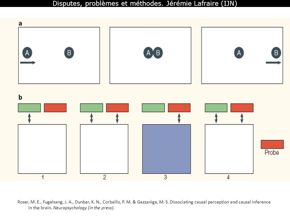 Disputes, problèmes et méthodes. Jérémie Lafraire (IJN) Roser, M. E., Fugelsang, J. A., Dunbar, K. N., Corballis, P. M. & Gazzaniga, M. S. Dissociatin