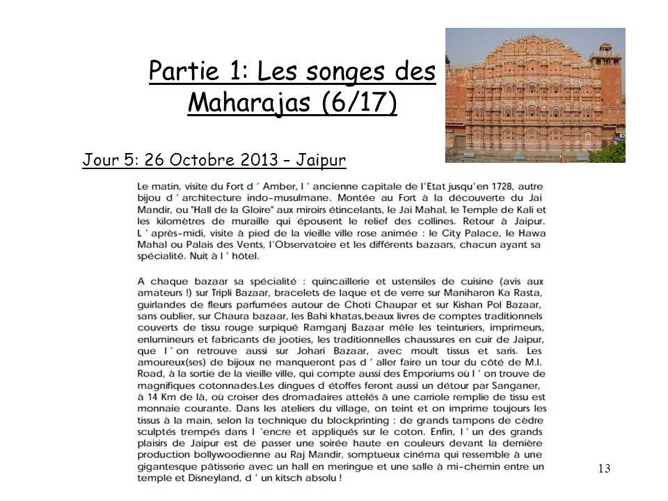 13 Partie 1: Les songes des Maharajas (6/17) Jour 5: 26 Octobre 2013 – Jaipur
