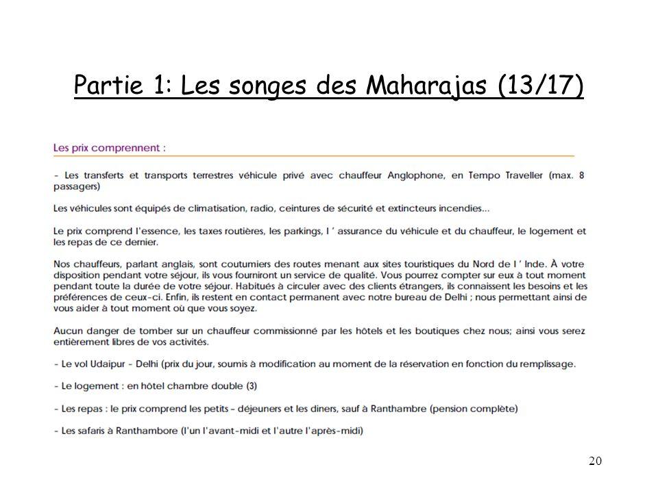 20 Partie 1: Les songes des Maharajas (13/17)