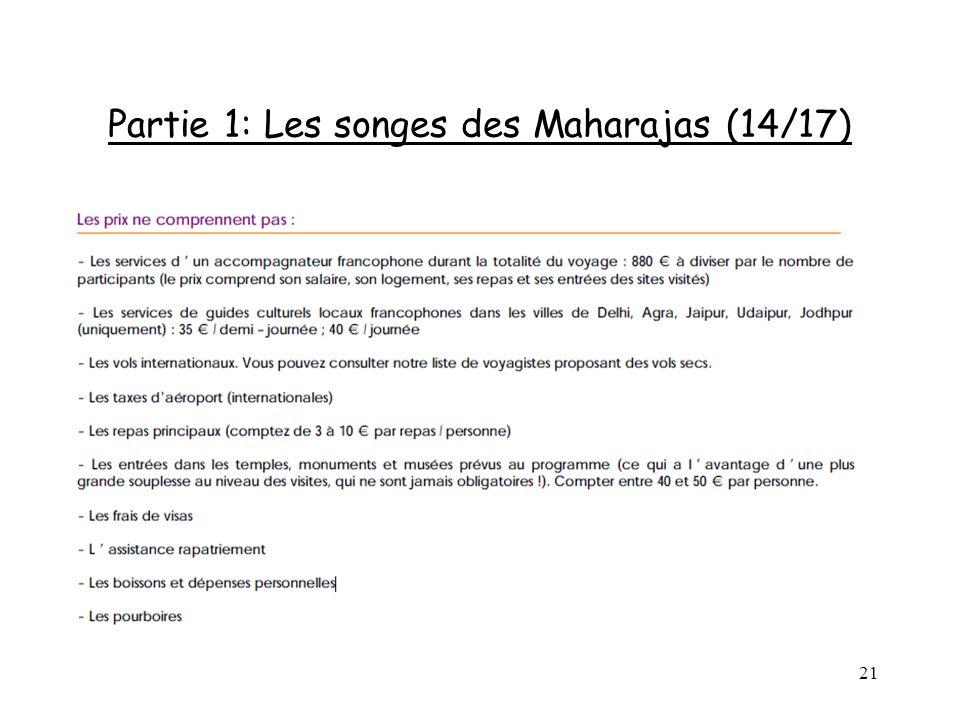 21 Partie 1: Les songes des Maharajas (14/17)