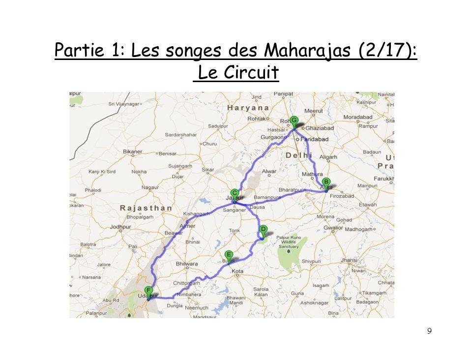 10 Partie 1: Les songes des Maharajas (3/17) Jour 1: 22 Octobre 2013 Départ de Nice à 16H05 Vol de 9H40 – 1 escale 4H10 Jour 2: 23 Octobre 2013 Arrivée à laéroport de New Delhi à 9H25.