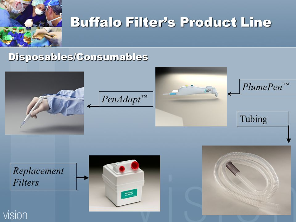 Buffalo Filters Product Line Disposables/Consumables PenAdapt Replacement Filters PlumePen Tubing