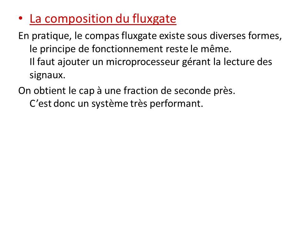 La composition du fluxgate En pratique, le compas fluxgate existe sous diverses formes, le principe de fonctionnement reste le même. Il faut ajouter u