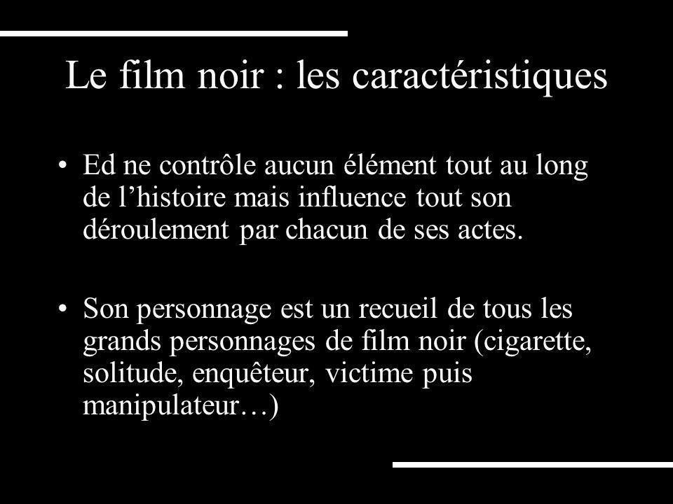 Un film de genre Un film noir qui reprend tous les ingrédients scénaristiques du genre: - lhomme solitaire - le chantage - la trahison - le meurtre… M