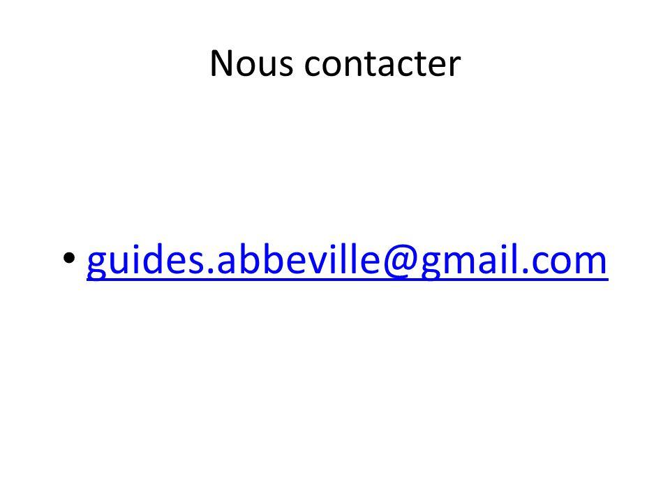 Nous contacter guides.abbeville@gmail.com