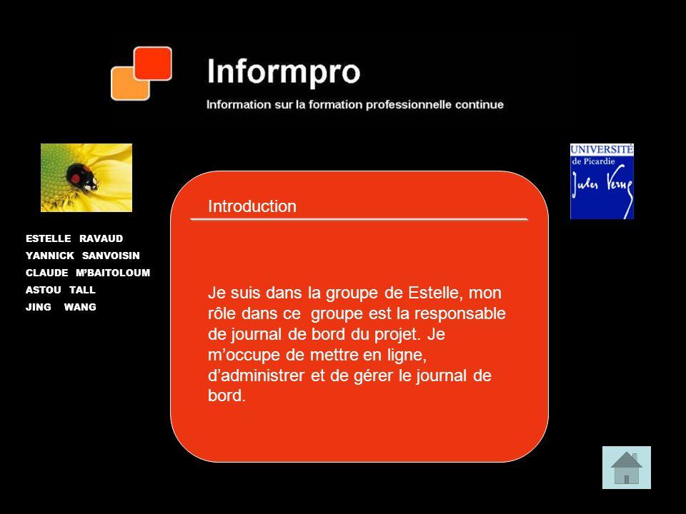 La nature du projet est la création dun blog que nous avons décidé dappeler « informpro ».